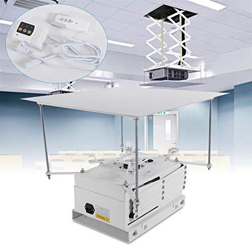 YIYIBY Beamer Deckenlift 220V, Projektor Lift mit 100CM Hub Elektrische Projektor-Hebebühne motorisierte Projektorhalterung mit Fernbedienung