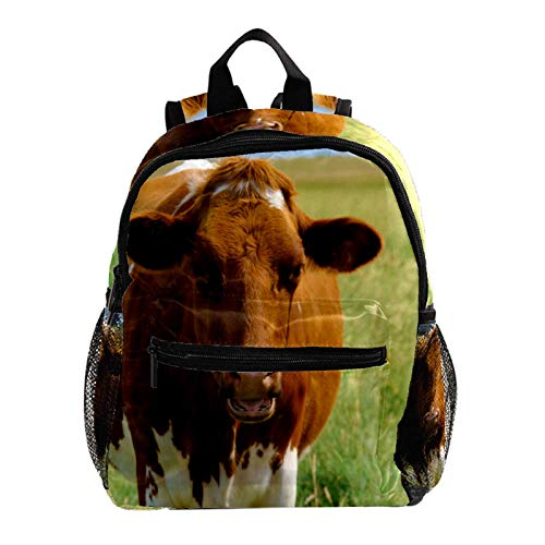 Kid Child Girl Cute Patterns Printed Backpack School Bag,Cow