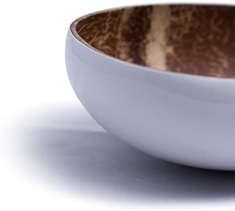 Kokosnuss Schale//Dekoschale wei/ß Kaloogo/® Cocobowl Pure