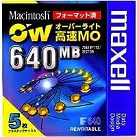日立マクセル マクセル オーバーライト対応 MOメディア 640MB 5枚 Macintoshフォーマット済 RO-M640.MAC.B5P