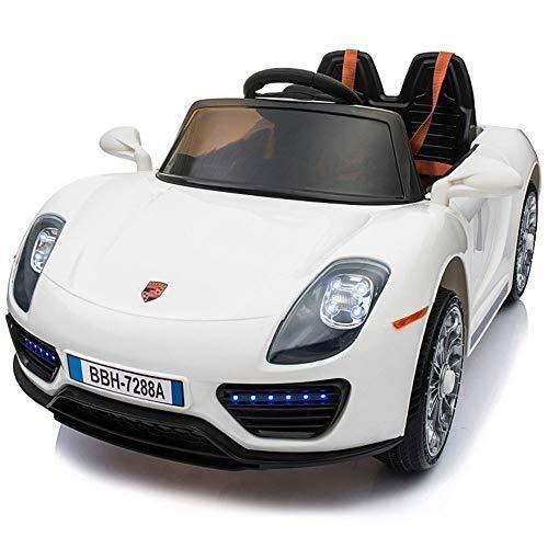 SEESEE.U Coche eléctrico para niños Coche Porsche Autorizado para niños 12V Coche eléctrico para niños Coche de Control Remoto en Las Cuatro Ruedas Coche de Juguete para niños Puede Sentarse Hombres