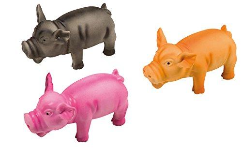 Karlie Latex-Schwein, 17x 7x 7cm, farblich Sortiert