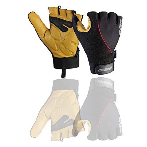Chiba Rollstuhl-Handschuhe Argon, Schwarz, XXL
