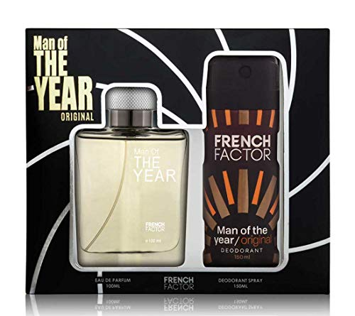 The French Factor Man of The Year Premium Gift Set For Men Eau De Perfume 100ml + Deodorant 150ml (Original)