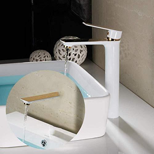 YZDD Grifos de lavabo Grifos de lavabo montados en cubierta Grifo de cascada Grifo de lavabo Grifos de lavabo Grifos de baño