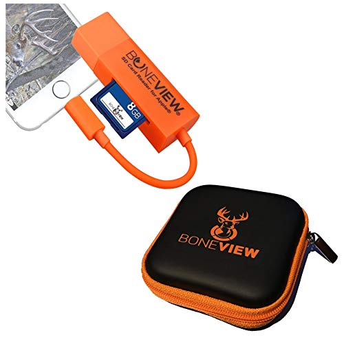 BoneView Card Reader for iPhone, Trail Cam Viewer Plays Deer Hunting Game Camera Scouting Video &...