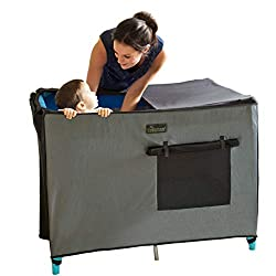 black out pack n play cover for camping with newborn babies