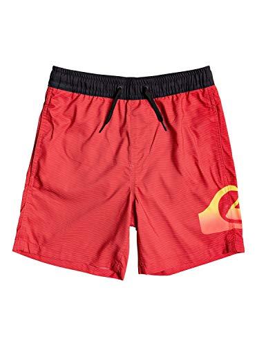 Quiksilver Dredge 15' - Bañador para Niños color Rojo (HIGH RISK RED), talla L/14