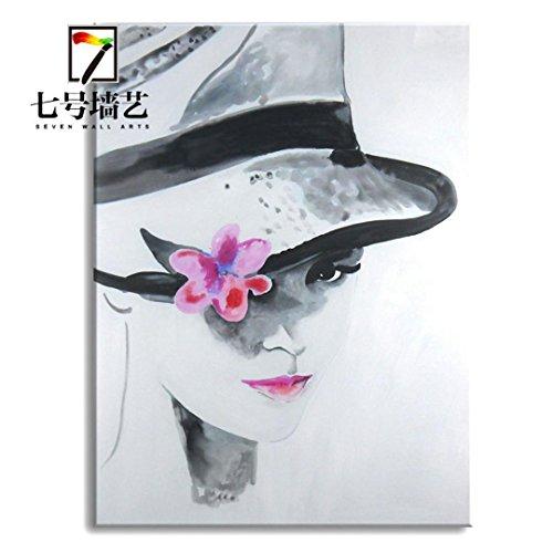 Astratto arte arredamento stampe affascinante sorriso puro olio dipinti a mano dipinti di telaio