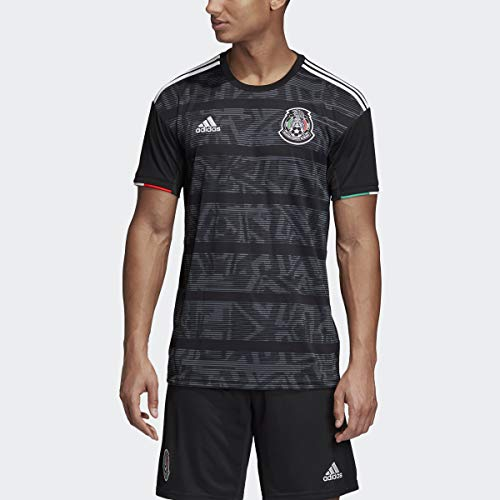 adidas Men's Soccer Mexico Home Jersey (X-Small) Black