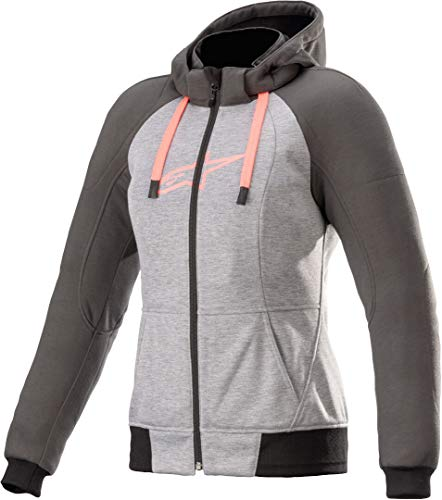 Alpinestars Stella Chrome Sport Aramid Hoodie - Chaqueta con capucha (talla XL), color gris