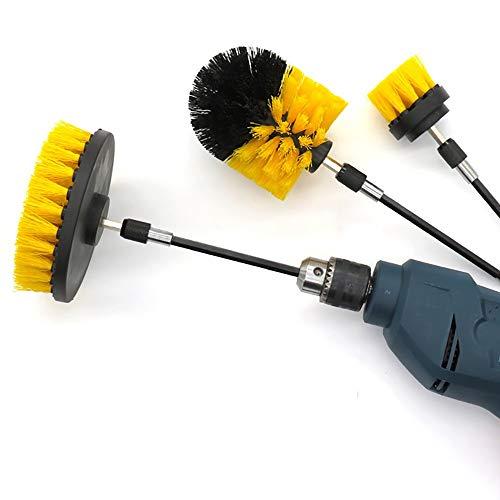JOMSK Bevestigingsset voor boorborstels booropzetborstelset – stroom-scrubber borstel-reinigingskit – veelzijdigheid…
