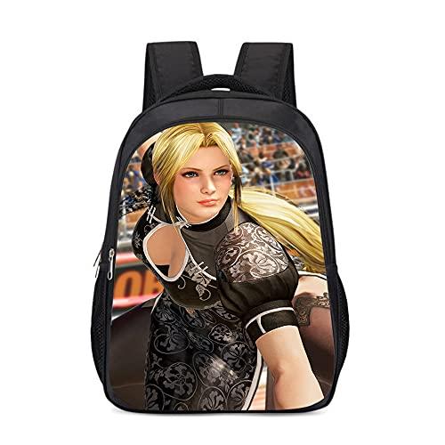 mmkow Impression de cartable Dead or Alive (Dead or Alive) jeu de rôle de beauté fille sac à dos sac d'ordinateur (43x30x13cm) grande capacité