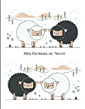 Mes patrons de tricot: Grands carreaux Séyès – 17 x 22cm – 100 pages pour conserver tous vos patrons, dessins et modifications au même endroit / ... la couverture arrière / Mouton noir et blanc