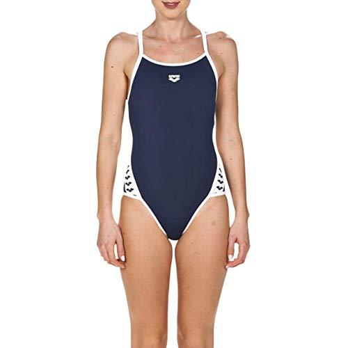 Arena W Team Stripe Super Fly Back, Costume Sportivo Donna, Blu (Navy/White), 42