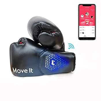 Move It Smart Boxing Gloves for Men Women and Kids Bluetooth Phone App Connection Punching Data Tracking with Training Courses Auto Picture and Video Capture of Your Coolest Moment 12OZ