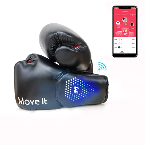Smart Boxing GlovesMove It Bluetooth Phone App Connection Punching Data Tracking with Training Courses Auto PictureVideo Capture of Your Coolest Moment