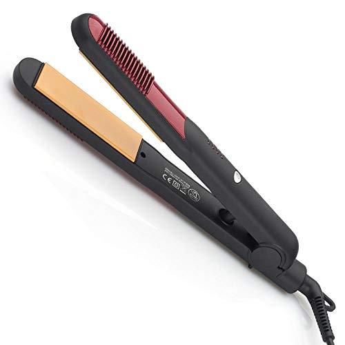 Plancha de Pelo Profesional El termostato de cerámica no daña la plancha para el cabello Cerámica Avanzada con Perla Plancha de pelo Plancha de Pelo,Digital, Keratina