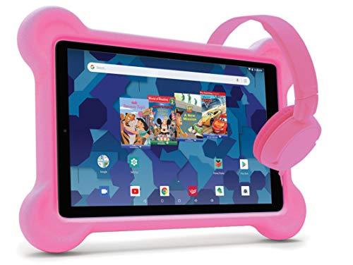 RCA Android Tablet Bundle (10″ Tablet, Audio Books, Bumper Case, Headphones) – Disney Edition (Pink)