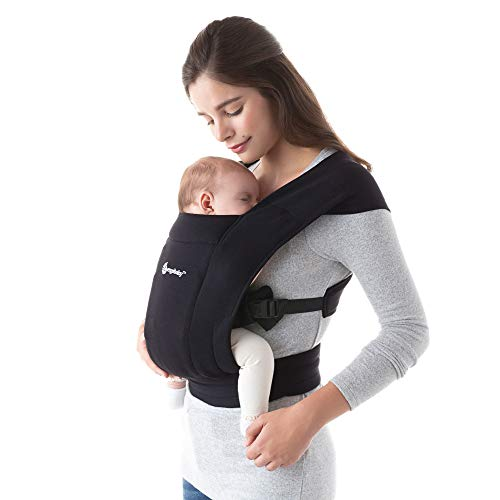 Ergobaby Embrace Baby Carrier, Infant Carrier for Newborns 7-25 Pounds, Pure Black