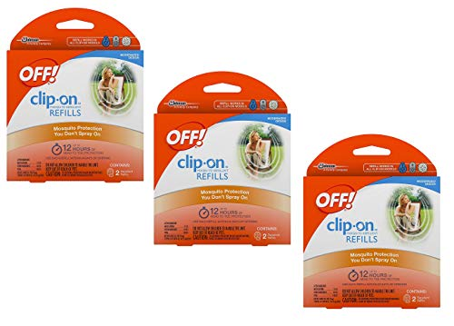 Off! Clip On Insect Repellant Refill, 3 Packs of 2 (6 Total)