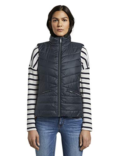 TOM TAILOR Damen Jacken & Jackets Leichte Gesteppte Weste Sky Captain Blue,XXL