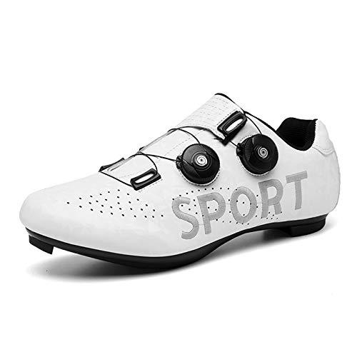 Gogodoing Zapatillas de Ciclismo de Carretera Zapatillas de Bicicleta de Carretera para Hombre Zapato Giratorio Calzado Transpirable Compatible SPD/SPD-SL Zapatillas de Ciclismo Spin