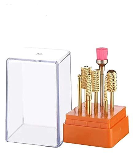 SHUHANG bits de Taladro de uñas de cerámica Set 7pcs Professional Cerámica de cerámica bit bit Set para la manicura de cerámica Nail bit Drill bit Set