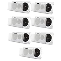 Acoustic Audio CC6 InWall 65 Left Center Right 7 Speaker System 2100W CC67S