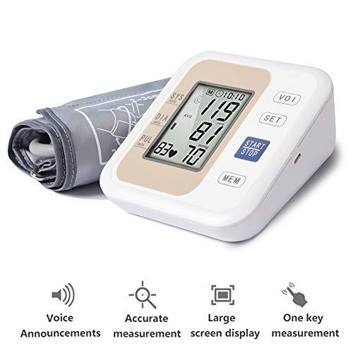 Automatische Bovenarmtype Elektronische Bloeddrukmeter voor Thuis Medische Engelse Spraakuitzending (Goud)