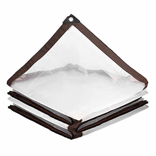 AWSAD Lonas Transparentes Lona Impermeable con Ojales Impermeable para Canopy Plataforma Porche Patio, 18 Tamaños (Color : Clear, Size : 2x8m)