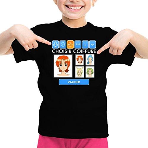 T-Shirt Enfant Fille Noir One Piece parodique Nami et Vivi : Générateur de Personnages : (Parodie One Piece)