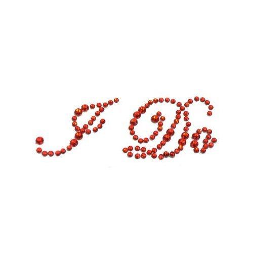 I Do rojo con cristales para zapato de novia con texto
