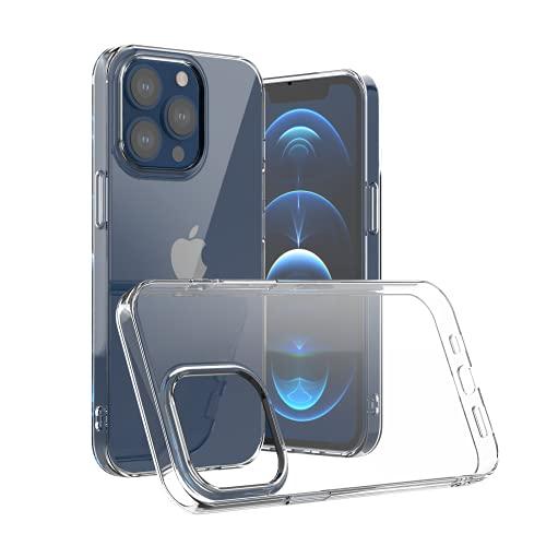 Camste Funda transparente compatible con iPhone 13 Pro de suave TPU ecológico antigolpes – Soporta la carga inalámbrica, no amarillea