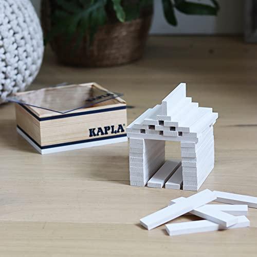 Kapla 8034 Holzplättchen 40-Teilig in Box Weiß - 3