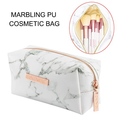 Suppyfly make-up tas voor dames, marmeren patroon, PU-leer, make-uptas voor op reis in de open lucht