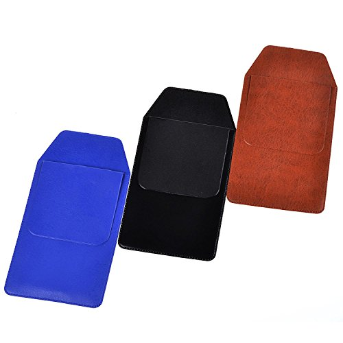 KLOUD City Assorted Colors Pocket Protector for Pen Leaks (Black#Blue#Brown)