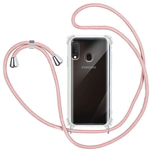 Funda con Cuerda para Samsung Galaxy A20e, Carcasa Transpare