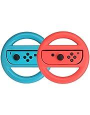 Amazon Basics - Volante para Nintendo Switch - Azul/Rojo (pack de 2)