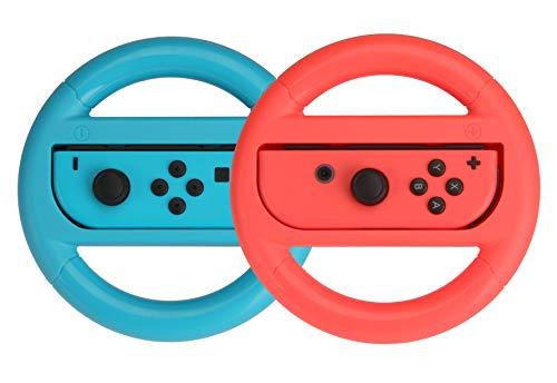 Amazon Basics - Volanti per Nintendo Switch - Blu/Rosso (confezione da 2)