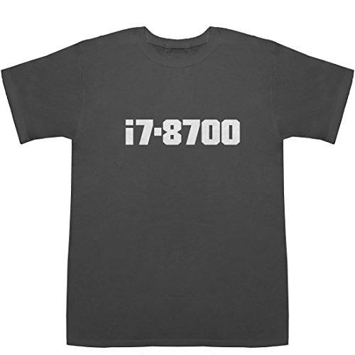 i7-8700 T-shirts スモーク M【i7 8700 i7 7700】【i7 7700k 8700k】