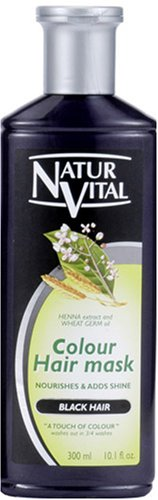 NATUR VITAL | Hair Coloring Treatment | Hair Mask N Black for Gray Hair 300ml (Japan Import)