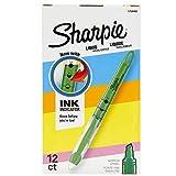 Sharpie Liquid Highlighters, Chisel Tip, Fluorescent Green, Box of 12
