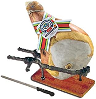 Jamon de Parma dop (Cav. U. Boschi) Entero, 10 Kg, con hueso + prensa en hierro + cuchillo especial para el jamón