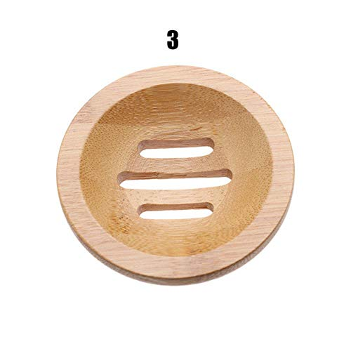 Miner 1 stks houten zeepbak afdruiprek zeepbakjes zeephouder bad douche zeep stand opbergdoos afvoer bamboe doos badkamer, 3