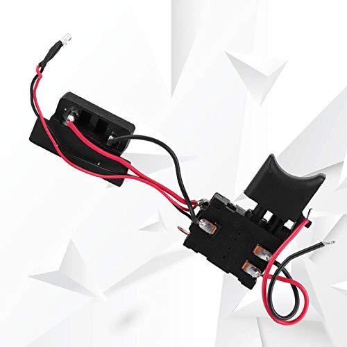 Fácil instalación 16A 24V Interruptor de taladro eléctrico Interruptor de taladro Interruptor de disparador de taladro de batería Ajustable con luz pequeña