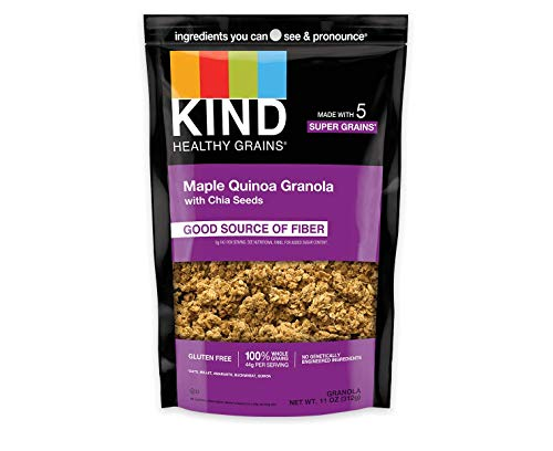 KIND Healthy Grains Clusters, Maple Quinoa with Chia Seeds Granola, Gluten Free, 11 Ounce (Pack of 6)