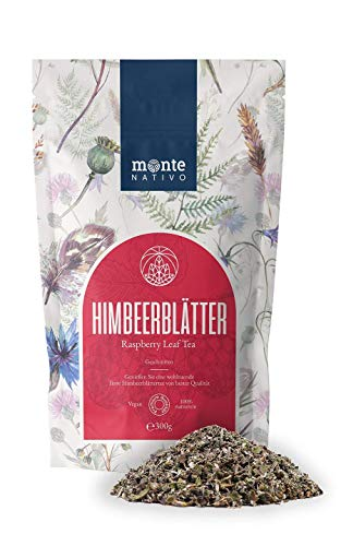 Thé aux feuilles de framboisier(300g) Monte Nativo - Qualité supérieure - Tisane - Thé de grossesse - 100% naturel - Sans sucre ajouté - Sans additifs - Thé pour femmes
