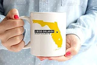 HAPPY MUG, I Miss Orlando UCF Coffee Mug Cup   University of Central Florida   Home Coordinates Longitude & Latitude   Go Knights   UCF Knights