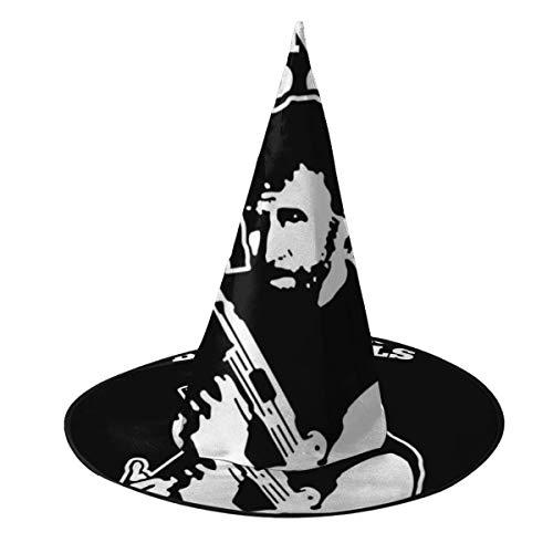 OJIPASD Chuck Norris Clulas de Sangre, Sombrero de Bruja, Disfraz Unisex para Vacaciones, Halloween, Navidad, Carnaval, Fiesta